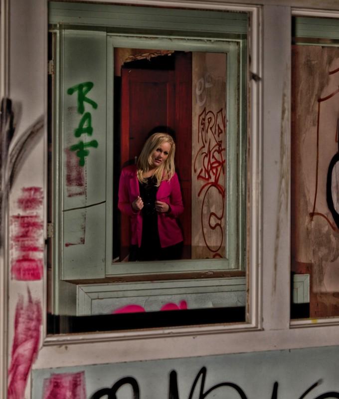 Alyssa at a urban location